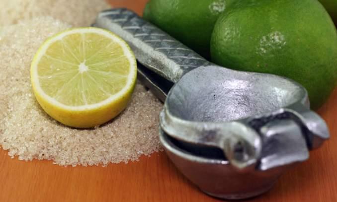 Limão e açúcar